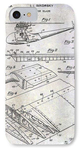 1949 Helicopter Patent IPhone Case by Jon Neidert
