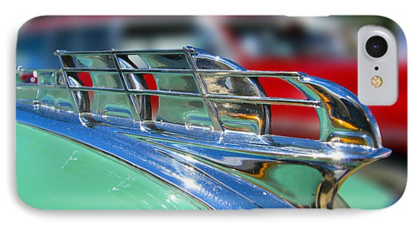 1949 Plymouth Hood Ornament Phone Case by Larry Keahey