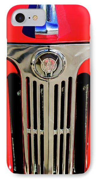 1949 Willys Jeepster Hood Ornament And Grille Phone Case by Jill Reger