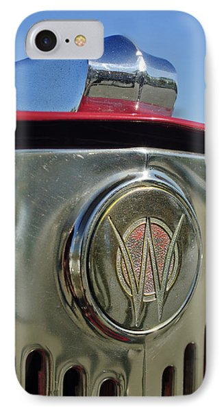 1949 Willys Jeepster Hood Ornament Phone Case by Jill Reger