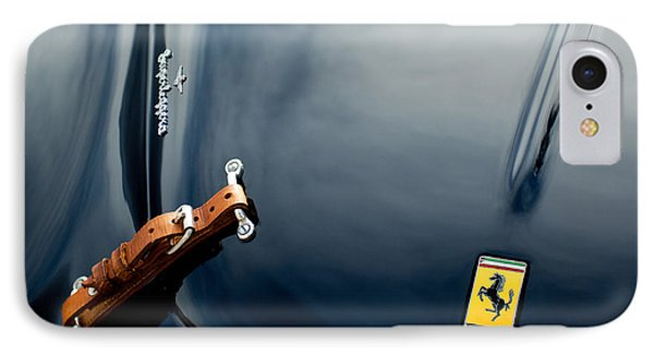 1950 Ferrari Hood Emblem IPhone Case by Jill Reger