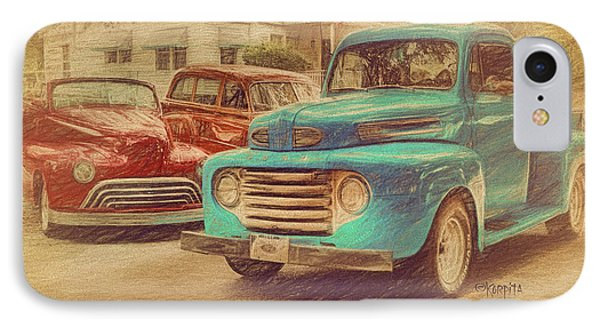 1950 Ford Truck Classic Cars - Homecoming IPhone Case by Rebecca Korpita