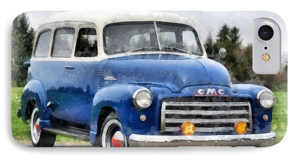 1950 Gmc Carryall Suburban 100 IPhone Case by Edward Fielding
