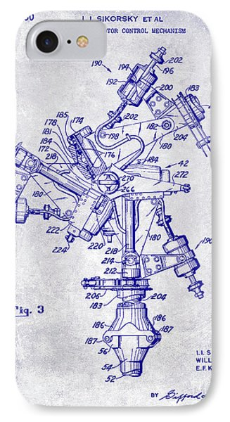 1950 Helicopter Patent Blueprint IPhone Case
