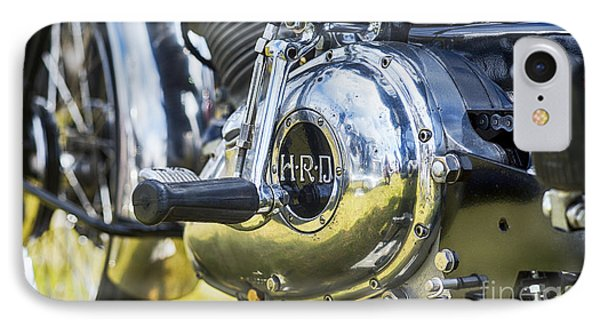 1950 Hrd Vincent Series B Meteor Abstract IPhone Case by Tim Gainey