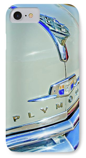 1950 Plymouth Coupe Hood Ornament Phone Case by Jill Reger