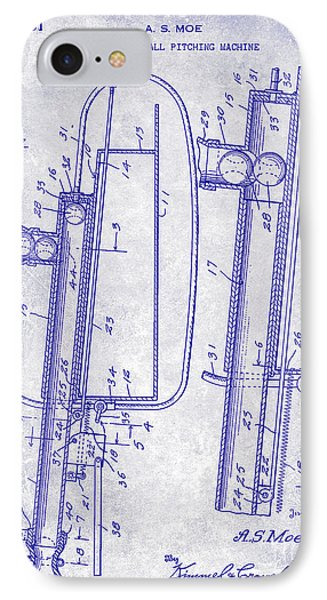 1951 Baseball Pitching Machine Patent Blueprint  IPhone Case by Jon Neidert
