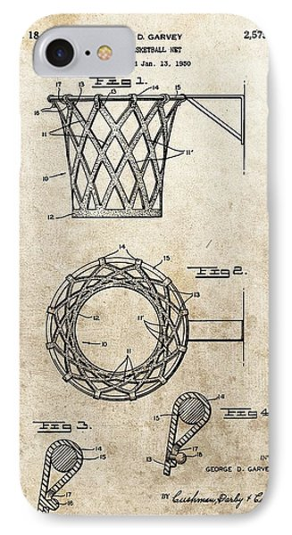 1951 Basketball Net Patent IPhone Case