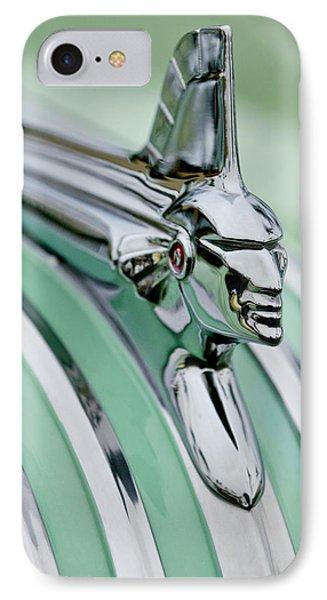 1951 Pontiac Streamliner Hood Ornament 3 Phone Case by Jill Reger
