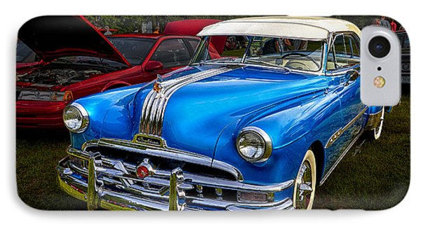 1952 Blue Pontiac Catalina Chiefton Classic Car IPhone Case by Betty Denise