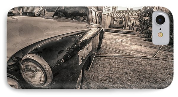 IPhone Case featuring the tapestry - textile 1952 Chevy Black And White by Kathy Adams Clark