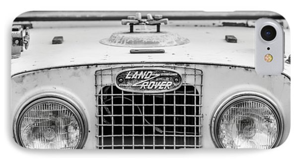 1952 Land Rover 80 Grille -0988bw IPhone Case by Jill Reger