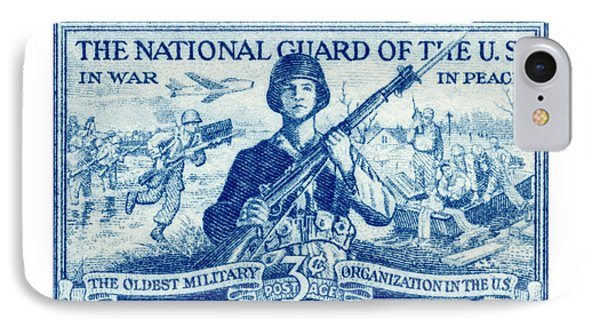 1952 National Guard Stamp IPhone Case