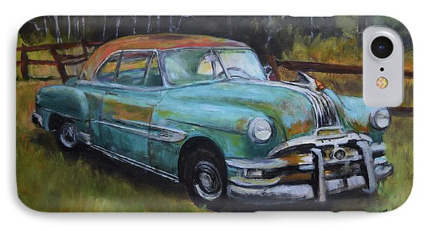 IPhone Case featuring the painting 1952 Pontiac Chieftain  by Sandra Nardone