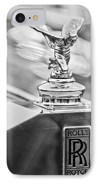 1952 Rolls-royce Silver Wraith Hood Ornament 2 IPhone Case by Jill Reger