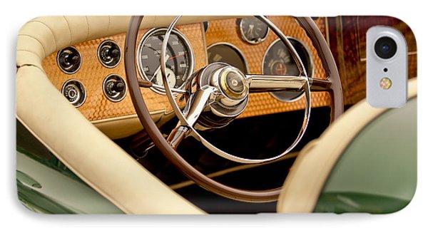 1952 Sterling Gladwin Maverick Sportster Steering Wheel IPhone Case by Jill Reger