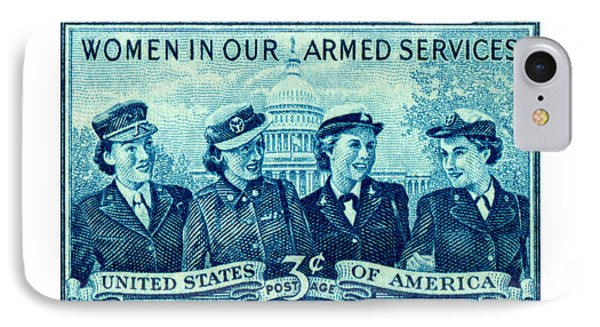 1952 Women In Military Service Stamp IPhone Case by Historic Image