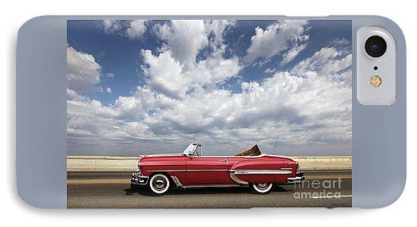 1953 Chevy Bel Air Convertible, Mixed Media, Louis Vuitton Steamer Trunk  IPhone Case