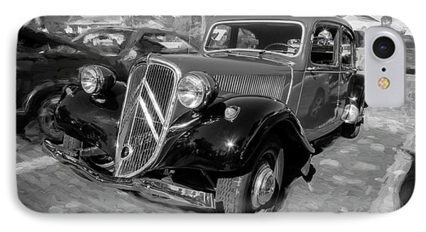 IPhone Case featuring the photograph 1953 Citroen Traction Avant Bw by Rich Franco