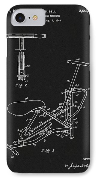 1953 Exercise Apparatus Patent IPhone Case by Dan Sproul