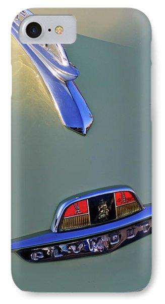 1953 Plymouth Hood Ornament Phone Case by Jill Reger