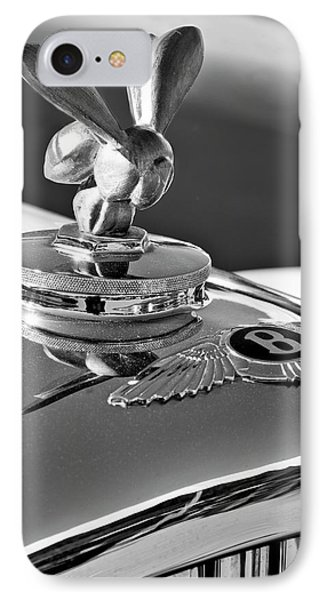 1954 Bentley One Of A Kind Hood Ornament 2 Phone Case by Jill Reger