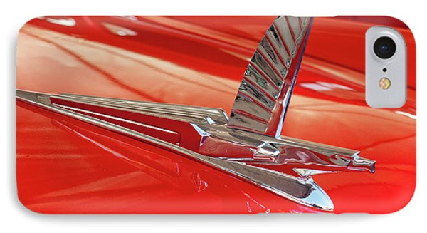 1954 Ford Cresline Sunliner Hood Ornament 2 Phone Case by Jill Reger