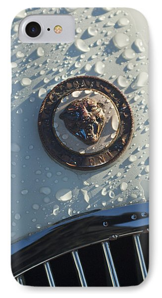 1954 Jaguar Xk120 Roadster Hood Emblem Phone Case by Jill Reger
