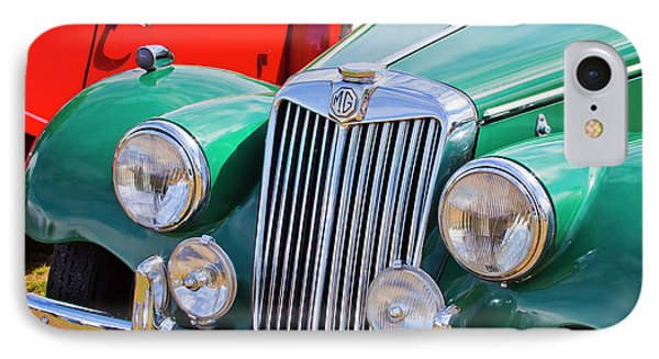 IPhone Case featuring the photograph 1954 Mg Tf Sports Car by Chris Dutton