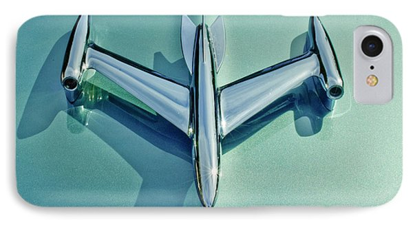 1954 Oldsmobile Super 88 Hood Ornament 2 IPhone Case by Jill Reger