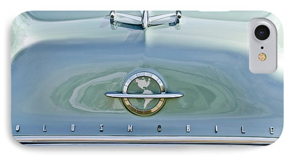 1954 Oldsmobile Super 88 Hood Ornament 3 IPhone Case by Jill Reger