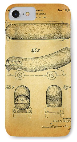 1954 Weiner Mobile Patent IPhone Case by Dan Sproul