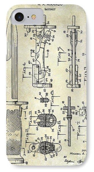 1955 Bayonet Patent IPhone Case by Jon Neidert
