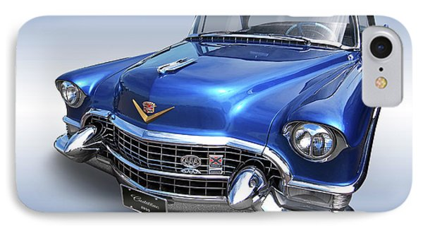 IPhone Case featuring the photograph 1955 Cadillac Blue by Gill Billington