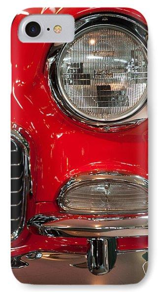 1955 Chevy Bel Air Headlight IPhone Case by Sebastian Musial