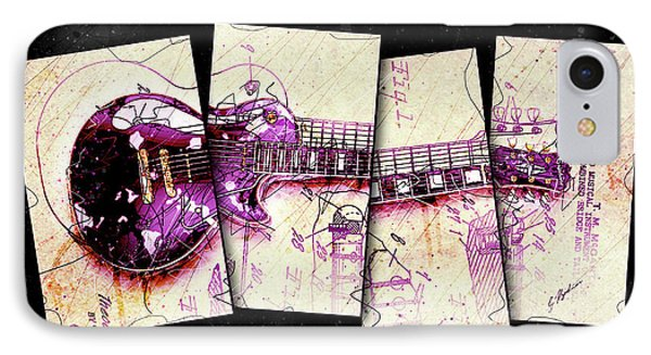 Van Halen iPhone 7 Case - 1955 Les Paul Custom Black Beauty V3 by Gary Bodnar