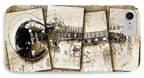 Van Halen iPhone 7 Case - 1955 Les Paul Custom Quadtych by Gary Bodnar