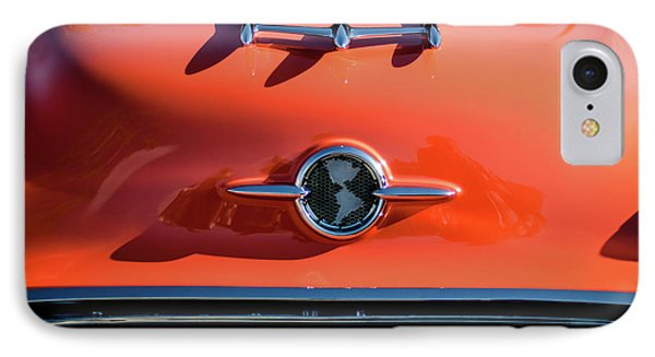 1955 Oldsmobile Rocket 88 Hood Ornament Phone Case by Jill Reger