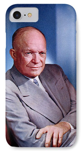 1955 President Dwight D Eisenhower IPhone Case by Historic Image