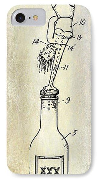 1956 Bottle Stopper Patent IPhone Case by Jon Neidert