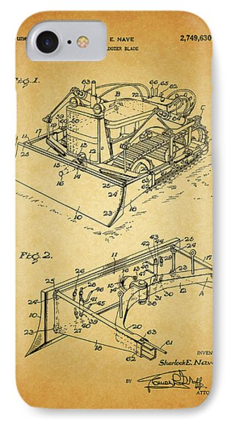 1956 Bulldozer Patent IPhone Case by Dan Sproul
