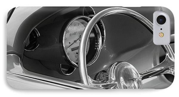1956 Chrysler Hot Rod Steering Wheel Phone Case by Jill Reger