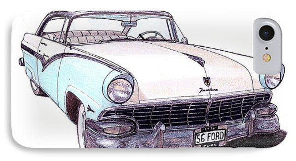 1956 Ford Fairlane Victoria IPhone Case