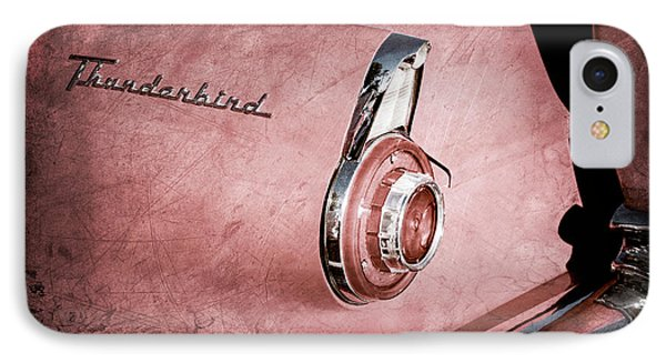 IPhone Case featuring the photograph 1956 Ford Thunderbird Convertible Taillight Emblem -0361ac by Jill Reger
