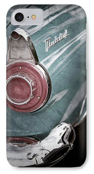 IPhone Case featuring the photograph 1956 Ford Thunderbird Taillight Emblem -0382ac by Jill Reger