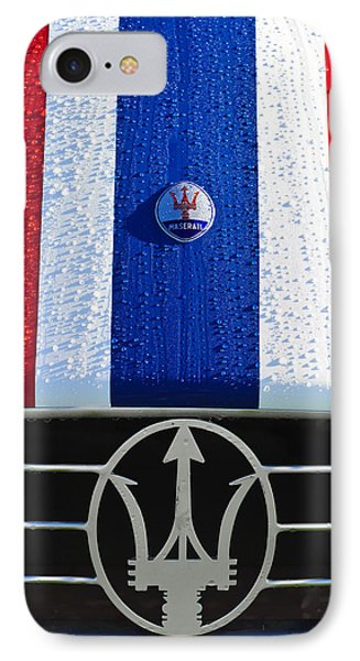1956 Maserati 350 S Hood Ornament Emblem 3 IPhone Case