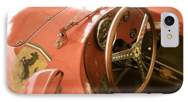 1956 Type Lancia Ferrari D50a Cockpit IPhone Case by John Colley