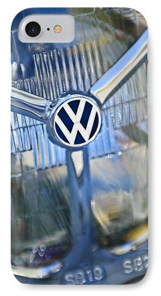 1956 Volkswagen Vw Bug Head Light Phone Case by Jill Reger