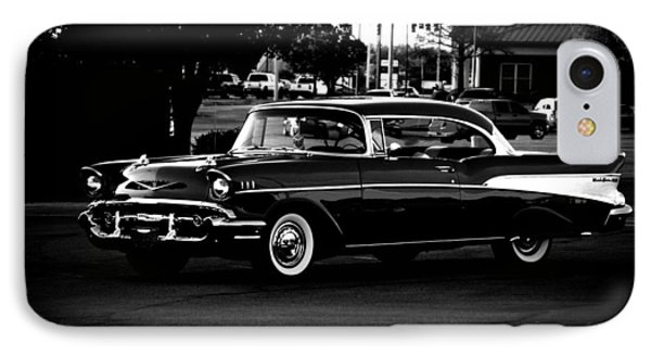 1957 Chevrolet Bel Air Bw IPhone Case by Lesa Fine