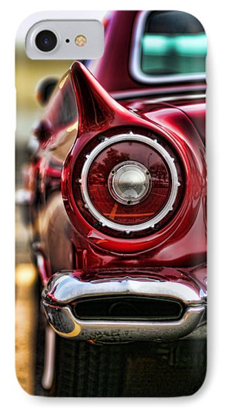 1957 Ford Thunderbird Red Convertible Phone Case by Gordon Dean II